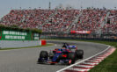 Daniil Kvyat of Russia driving the (26) Scuderia Toro Rosso STR12 on track during the Canadian Formula One Grand Prix at Circuit Gilles Villeneuve on June 11, 2017 in Montreal, Canada.