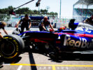 Daniil Kvyat of Scuderia Toro Rosso and Russia during practice for the Azerbaijan Formula One Grand Prix at Baku City Circuit on June 23, 2017 in Baku, Azerbaijan.