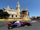 Carlos Sainz of Spain driving the (55) Scuderia Toro Rosso STR12 on track during final practice for the Azerbaijan Formula One Grand Prix at Baku City Circuit on June 24, 2017 in Baku, Azerbaijan.