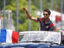 Romain Grosjean on the parade lap at Circuit Gilles Villeneuve, Montreal, Canada. Sunday 11 June 2017.