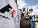 Baku City Circuit, Baku, Azerbaijan. Friday 23 June 2017. Felipe Massa, Williams Martini Racing, signs autographs for fans.