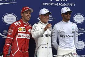 Top 3 qualifiers 2017 Austrian GP: 1. Bottas, 2. Vettel 3. Hamilton