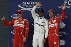 Top 3 qualifiers 2017 British GP: 1. Hamilton, 2. Raikkonen, 3. Vettel