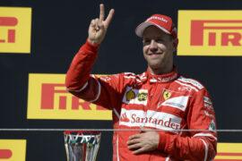 Sebastian Vettel winner Hungarian GP F1/2017