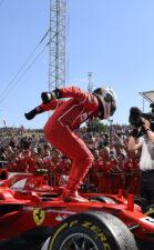 Sebastian Vettel Ferrari winner Hungarian GP F1/2017