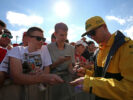Nico Hulkenberg (GER) Renault Sport F1 Team signs autographs for the fans. Hungarian Grand Prix, Thursday 27th July 2017. Budapest, Hungary.