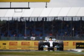 Lewis Hamilton, Mercedes W08 at Silverstone
