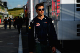 Daniil Kvyat of Russia and Scuderia Toro Rosso walks in the Paddock during previews ahead of the Formula One Grand Prix of Hungary at Hungaroring on July 27, 2017 in Budapest, Hungary.