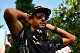 Daniel Ricciardo of Red Bull Racing in the Paddock before the Formula One Grand Prix of Hungary at Hungaroring on July 30, 2017 in Budapest, Hungary.