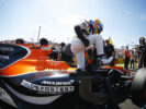 Hungaroring, Budapest, Hungary. .Fastest Lap Sunday 30 July 2017. Fernando Alonso, McLaren, exits his car on the grid.