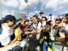 Hungarian GP Thursday 27 July 2017. Felipe Massa, Williams Martini Racing, signs autographs for fans.