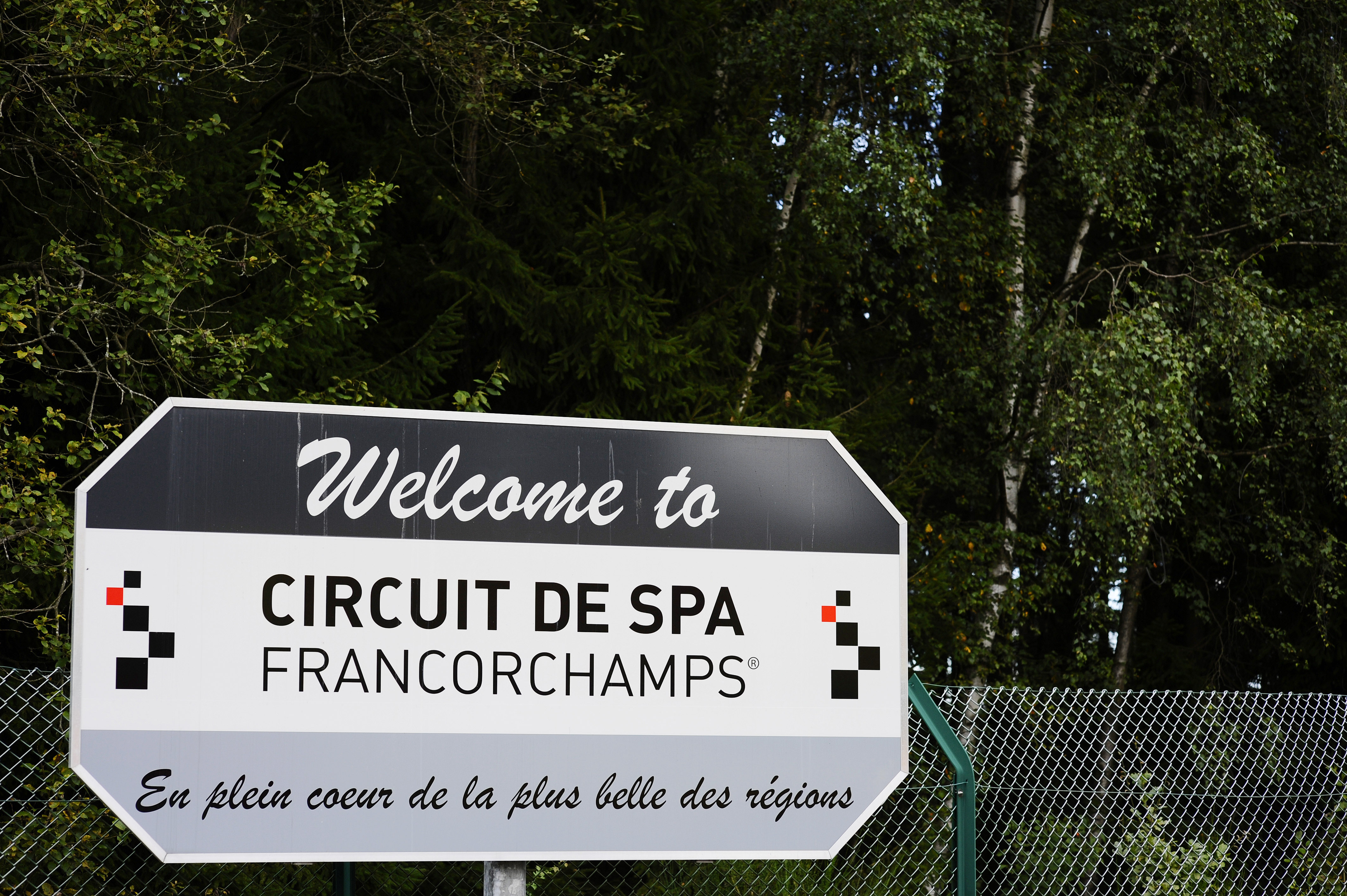 Spa-Frnacorchamps road sign