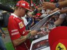 Kimi Raikkonen Ferrari with fans Austrian GP F1 2017