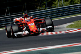 Charles Leclerc testing the SF70H on the Hungaroring (Aug '17)