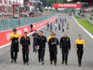 Jolyon Palmer (GBR) Renault Sport F1 Team walks the circuit with the team. Belgian Grand Prix, Thursday 24th August 2017. Spa-Francorchamps, Belgium.