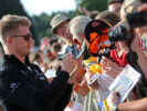 Nico Hulkenberg (GER) Renault Sport F1 Team signs autographs for the fans. Belgian Grand Prix, Thursday 24th August 2017. Spa-Francorchamps, Belgium.