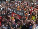 Spectators atmosphere. Pascal Wehrlein (D), Sauber F1 Team fans. Circuit Spa-Francorchamps Belgian GP 2017