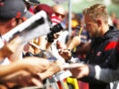 Kevin Magnussen signing at Spa Francorchamps, Belgium 2017