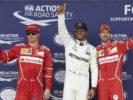 Formula One - Mercedes-AMG Petronas Motorsport, British GP 2017. Lewis Hamilton, Kimi Raikkonen & Sebastian Vettel of Ferrari.