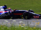 Daniil Kvyat of Russia driving the (26) Scuderia Toro Rosso STR12 on track during final practice for the Formula One Grand Prix of Austria at Red Bull Ring on July 8, 2017 in Spielberg, Austria.