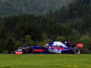 Carlos Sainz of Spain driving the (55) Scuderia Toro Rosso STR12 on track during final practice for the Formula One Grand Prix of Austria at Red Bull Ring on July 8, 2017 in Spielberg, Austria.
