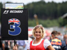 The grid girl of Daniel Ricciardo of Australia and Red Bull Racing on the grid before the Formula One Grand Prix of Austria at Red Bull Ring on July 9, 2017 in Spielberg, Austria.