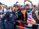 Daniel Ricciardo of Australia and Red Bull Racing during previews ahead of the Formula One Grand Prix of Great Britain at Silverstone on July 13, 2017 in Northampton, England.