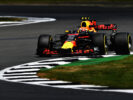 Max Verstappen of the Netherlands driving the (33) Red Bull Racing Red Bull-TAG Heuer RB13 TAG Heuer on track during practice for the Formula One Grand Prix of Great Britain at Silverstone on July 14, 2017 in Northampton, England.