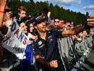 Daniel Ricciardo Red Bull with fans Belgian GP F1/2017
