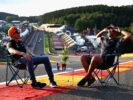 Max Verstappen & Daniel Ricciardo on Francorchamps Circuit Belgium 2017