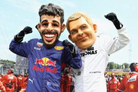 Fans Daniel Riccardo & Valtteri Bottas Belgian GP F1/2017
