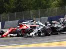 Romain Grosjean battling with Ferrari at Austrian GP F1 2017