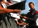 Romain Grosjean signing at Spa Francorchamps, Belgium. Thursday 24 August 2017.