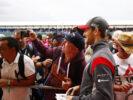 Romain Grosjean with fans British GP F1/2017