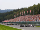 Haas Teammates on straight Spa Francorchamps, Belgium. Sunday 27 August 2017.
