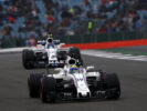 Silverstone, Northamptonshire, UK. Saturday 15 July 2017. Felipe Massa, Williams FW40 Mercedes, leads Lance Stroll, Williams FW40 Mercedes.