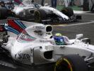 Silverstone, Northamptonshire, UK. Sunday 16 July 2017. Felipe Massa, Williams FW40 Mercedes, and Lance Stroll, Williams FW40 Mercedes, on the grid.