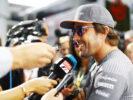 Spa Francorchamps, Belgium. Thursday 24 August 2017. Fernando Alonso, McLaren, speaks to the media.