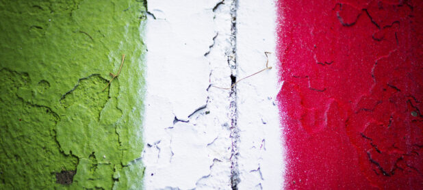 Autodromo di Monza, Italy. Curbs painted in the Italian flag colors