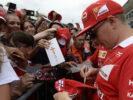 Kimi Raikkonen Ferrari with fans Monza Italian GP F1/2017
