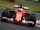 Sebastian Vettel Ferrari on track GP ITALIA F1/2017