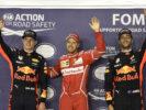 Sebastian Vettel, Max Vertsappen & Daniel Ricciardo at GP SINGAPORE F1/2017