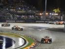 Cars on track GP SINGAPORE F1/2017