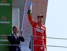 Ferrari Sebastian Vettel 3rd on podium at Monza GP ITALIA F1/2017