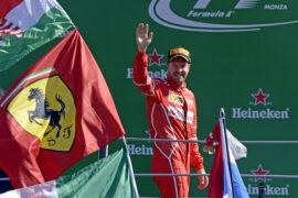 Sebastian Vettel 3rd on podium Monza GP ITALIA F1/2017