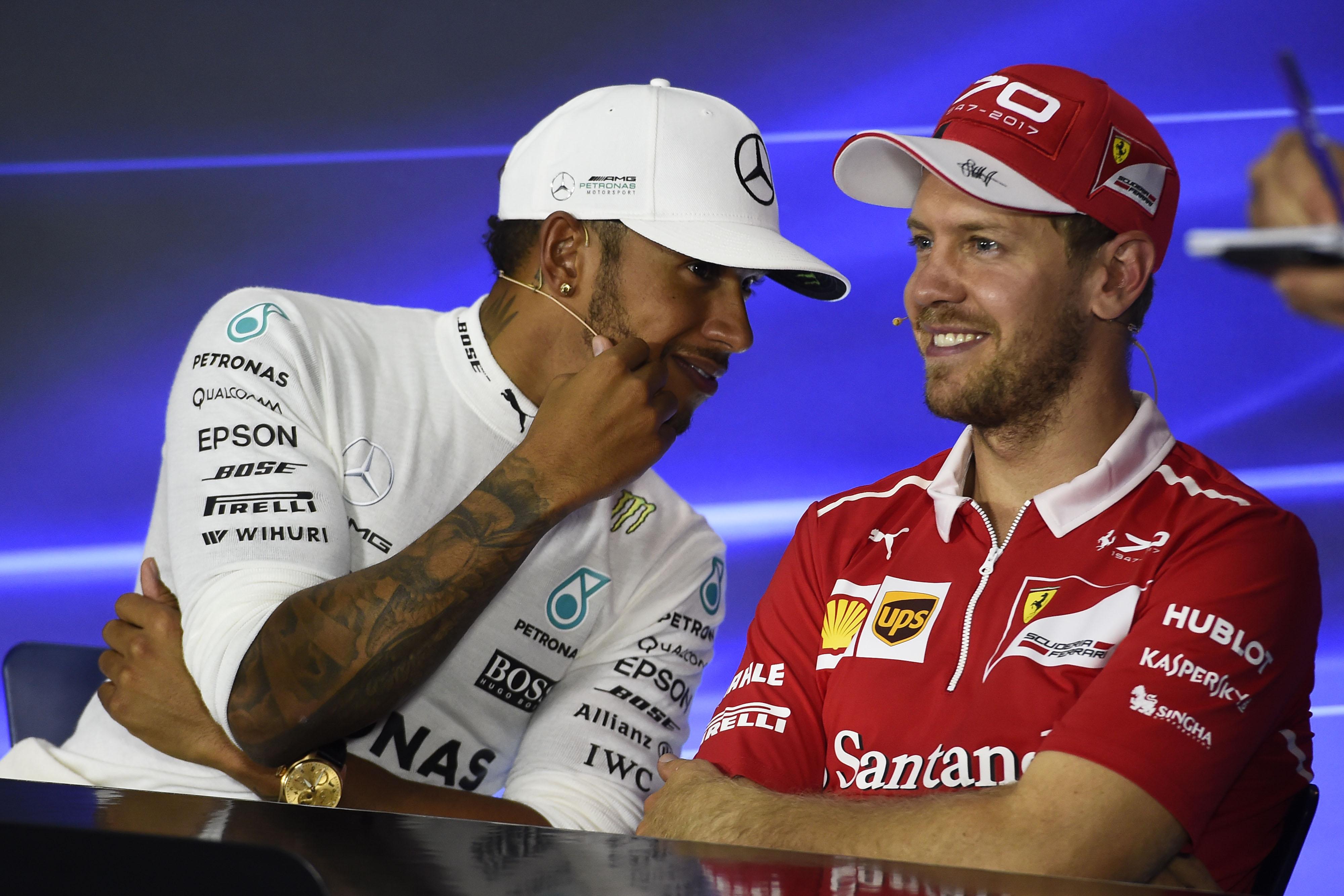 Lewis Hamilton & Sebastian Vettel Monza GP ITALIA F1/2017