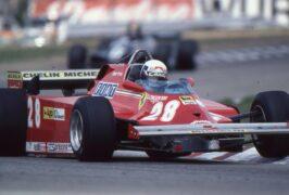Dieder Pironi driving the Ferrari 126