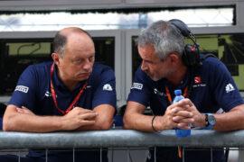 Frederic Vasseur (FRA) Managing Director & CEO of Sauber Motorsport AG, Team Principal of the Sauber F1 Team.Beat Zehnder (CH), Sauber F1 Team manager. Autodromo di Monza. Italian GP Friday 01/09/17