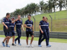 Pascal Wehrlein (D), Sauber F1 Team. Sepang International Circuit track walk Malaysian GP 2017.