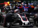 Kevin Magnussen Haas with other drivers on track Autodromo Nazionale di Monza, Italy. Sunday 03 September 2017.